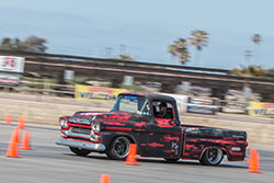 Wes Drelleshak took to the autocross with this 1959 Apache Truck that was also equipped with a Spectre Performance Universal Air Intake