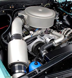 Dick Eytchison designed his Spectre Air Intake with a single inlet and inline filter to draw in cooler air for better performance