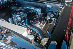 The 1966 El Camino, built by Best In Show Coach Works, created a custom one-off cold air intake by using Spectre air intake components