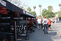 Make sure to check out the Spectre and K&N displays to see the latest products and spin the wheel to win a prize.