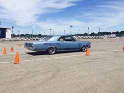 The Jacobs' 1966 Chevelle will be doing double duty as both Chris and Lynda get behind the wheel and hit the autocross.