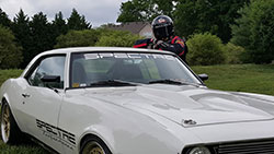Spectre driver Rodney Prouty has created quite a following as he continues to post updates as the evil Stig on his Facebook page.