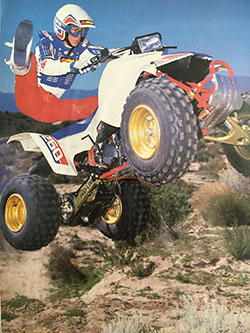 Greg Thurmond riding a quad