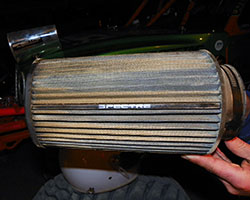 Racing air filter from Spectre Performance provides airflow and protection