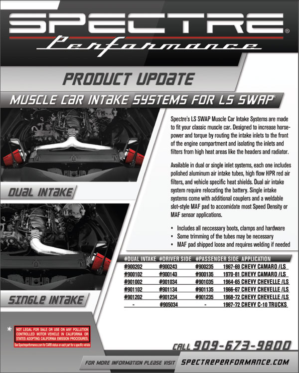 Chevrolet Muscle Cars LS Air Intakes Sell Sheet