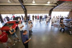 Photo of Driver's Meeting in Paddock area at Autoclub Speedway, Fontana