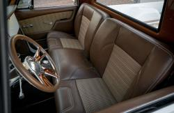 The interior is subtle and not too far removed from stock