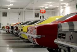 View of cars in Thwaits Car Collection