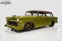 Front Drivers Side 1955 Chevy Nomad GONE-MAD Owner, Art Boze, Built by Classic Car St