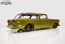 Rear Passenger Side View 1955 Chevy Nomad built by Classic Car Studio