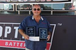 Shot of Bret Voelkel with his 1st Place Finish awards for the Baer Brakes 3s Challenge at LS Fest