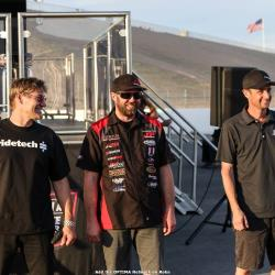 Photo of the GTS Class Podium, Mike Maier in 1st, Cliff Elliott in 2nd and Jordan Priestley in 3rd