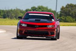 Photo of Jason Luebcke out on the road course at National Corvetrte Museum for Optima Challenge
