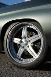 "The Chevelle features 19"" wheels and tires in the front, and 20"" in the rear."