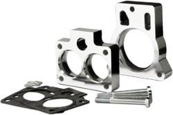 Spectre's throttle body spacers are designed to improve air flow and lower air intake restrict