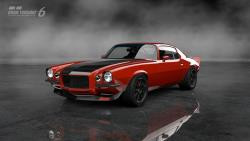 Mary Pozzi's Inferno Orange '73 Camaro in the video game Gran Turismo 6