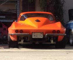 Photo of the rear end on the '65 Corvette.