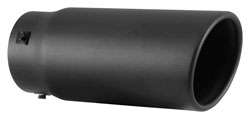 The Spectre 22361 exhaust tip features stainless steel covered in black powder-coating.