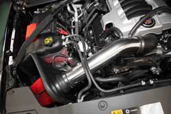 Air intake installed in the 2015 Chevy Silverado 1500 6.2L V8