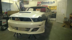 Brian Finch Mustang 2011 front end to fit the 1967 Mustang body