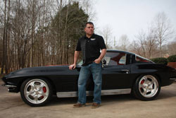 Finch represents Spectre Performance with his 1970 Camaro and 1963 Corvette
