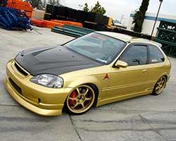 TRIL GEAR Red Cold Air Intake Filter Fit for 1996-2000 Honda Civic Cx Dx Lx L4 Ej Ek Em 1.6 L4