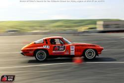 Thurmond and his '65 Corvette on the road courser at Thunderhill