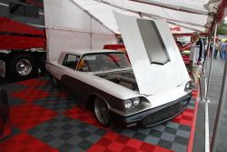 Mothers booth with custom Ford Thunderbird with 5.0L Coyote motor