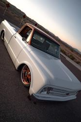 The 1967 Tre 5 Customs Chevrolet C10 rides on a full air suspension