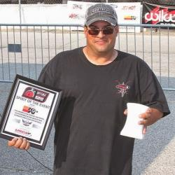 View of Rodney Prouty with his Spirit of the Event award