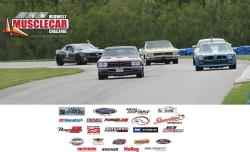 Lynda Jacobs seen on course with Wimpy & other drivers at the Midwest Musclecar Challenge