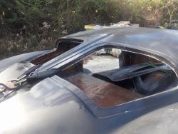Shot of Finch's next project, a '63 split window Corvette
