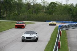 The '71 Camaro out front on the road course at Putnam Park for Midwest Muscle Car Challenge