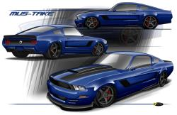 """Artist Rendering of the Finch Performance 1967 Mustang """"Mustake"""""""