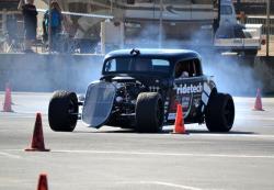 Shot of Bret Voelkels '33 Ford on track at Goodguys Del Mar.