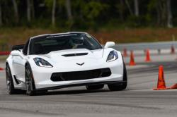 Shot of the Spectre and RideTech equipped C7 driven by Bret Voelkel on track at LS Fest