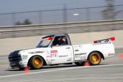 Brandy Phillips in her C10R on course during her winning run.