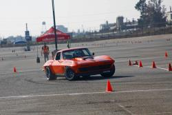 Spectre Driver, Greg Thurmond, his '65 Corvette out on the autocross at Autoclub Speedway