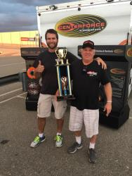 Spectre Driver, Greg Thurmond with Chad Ryker, points winners of Classic Muscle Class w/ trophy