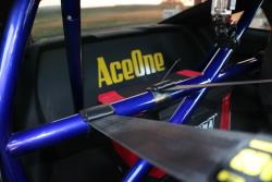 Interior shot showing the color detail of the aftermarket rollbar