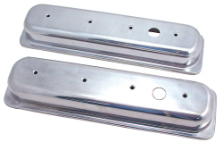 Spectre offers valve covers in triple chrome plated, polished aluminum, and even gold iridite