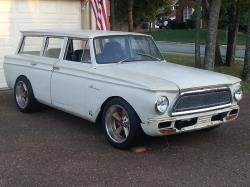Suzy's SEMA show car started life as a plain-Jane 1963 AMC Rambler American 440 Wagon