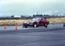 Mary Pozzi's first real race car a Datsun 240Z with 300HP