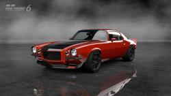 Mary Pozzi's Inferno Orange '73 Camaro in the video game Gran Turismo 6