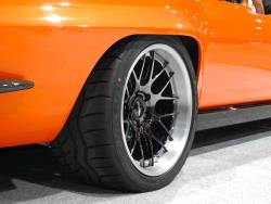 Close up of the '65 Corvette with custom Forgeline wheels